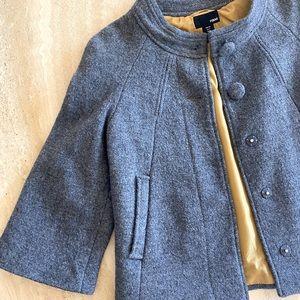 H&M vintage style cropped coat, wool blend. Sz4